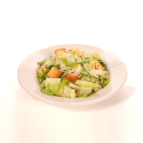 Lettuce topped with parmesan cheese, homemade croutons and our Caesar dressing